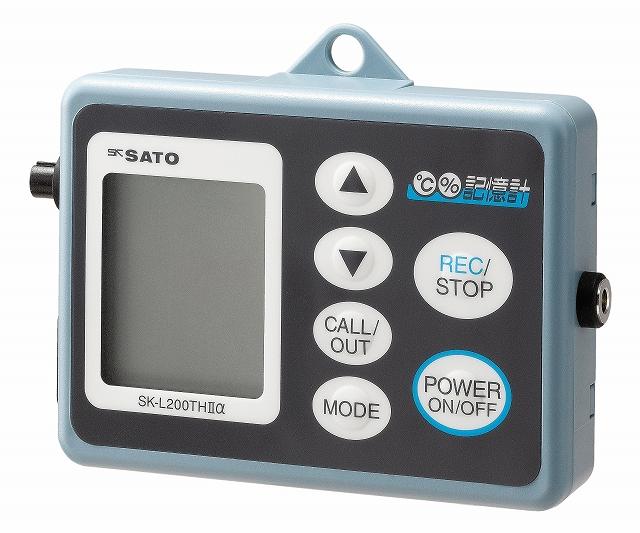 データロガー(記憶計) SK-L200THαD(温湿度用) No.8175-10 指示計ノミ