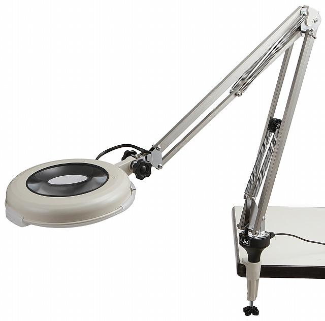 LED照明拡大鏡 LSKs-F(フリーアーム式) 倍率4×