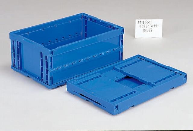 オールプラ軸オリタタミ(PP)  オリコンP65B 649mm×439mm×275mm ブルー