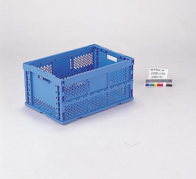 オールプラ軸オリタタミ(PP)  オリコンP75A 650mm×440mm×329mm ブルー