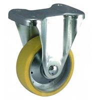ナンシン 静電気防止キャスターSKMシリーズ 固定(オクトロンウレタン車輪) SKM-130VUO