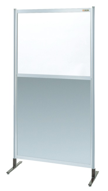 サカエ パーティション 透明塩ビ(上) アルミ板(下)タイプ(単体) NAE-36NT 【代金引換不可商品】