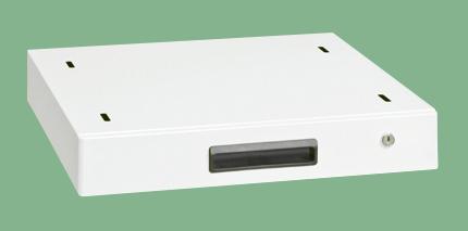 サカエ 作業台用オプションキャビネット(パールホワイト) NKL-10WC