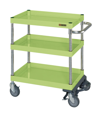 【数量は多】 サカエ ニューパールワゴン(フットブレーキ付) PKR−202MBRN 【商品】:GAOS 店-DIY・工具