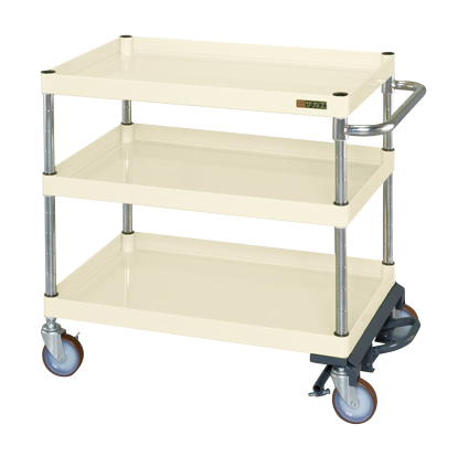 一番人気物 サカエ ニューパールワゴン(フットブレーキ付) PKR−202MBRNUNI 【商品】:GAOS 店-DIY・工具