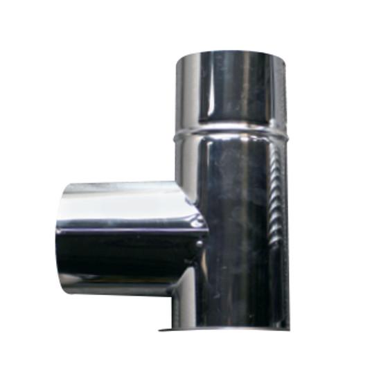 信州工業 オプション部品 ステンレス煙突A型 材質:SUS430 厚み:0.3~0.4mm L曲り(165φ) (SG-100CXS・SG-100H・SBS-050向け)