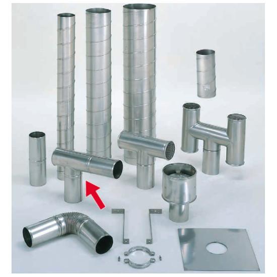信州工業 オプション部品 ステンレス スパイラル煙突B型 材質:SUS304 厚み:0.4~0.5mm L曲り(175φ) (SG-100CXS・SG-100H・SBS-050向け)