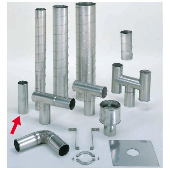 信州工業 オプション部品 ステンレス スパイラル煙突B型 材質:SUS304 厚み:0.4~0.5mm ジョイント (SO-507XS向け)