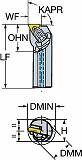 サンドビック コロターンRC ネガチップ用ボーリングバイト A25TDTFNR16