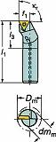 サンドビック コロターン111 ポジチップ用ボーリングバイト A06FSTFPR06R