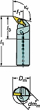 サンドビック コロターン107 ポジチップ用ボーリングバイト A16RSVQCL11ER