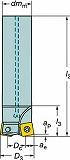 サンドビック コロミル210エンドミル R210032A2509M