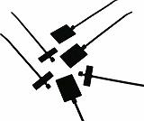 パンドウイット 旗型タイプナイロン結束バンド 耐候性黒 PL2M2SD0