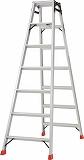 TRUSCO はしご兼用脚立 アルミ合金製脚カバー付 高さ1.98m TPRK210