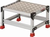 TRUSCO 作業用踏台 アルミ製・縞板タイプ 天板寸法500X400XH300 TSFC153