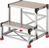 TRUSCO 作業用踏台 アルミ製・縞板タイプ 天板寸法600X400XH600 TSFC266