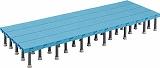 TRUSCO 樹脂ステップ高さ調節式600X1800 H200-220 DS6018H