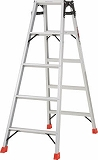 TRUSCO はしご兼用脚立 アルミ合金製・脚カバー付 高さ1.40m THK150