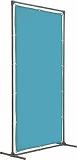 TRUSCO 溶接遮光フェンス 2020型単体固定足 青 YFAKB