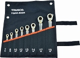 TRUSCO 切替式ラチェットコンビネーションレンチセット(スタンダード)8本組 TGRW800R