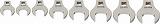 WILLIAMS 3/8ドライブ クローフットレンチ セット(17~24mm) JHW10791