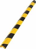 TRUSCO 安心クッションL字型大 黒・黄 10本入り T10AC99