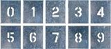 つくし 吹付プレート 数字(0~9) 10枚組 中サイズ J91B