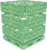 人気定番の TRUSCO マルチステージコンテナ メッシュ 3段 1100X1100 緑 TMSCM1111GN:GAOS 店-DIY・工具