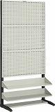 TRUSCO UPR型パンチングラック 棚板2段付 UPR3002