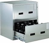 TRUSCO 耐震薬品庫 705X600XH800 2段引出型 SYW2
