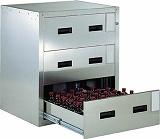 TRUSCO 耐震薬品庫 705X600XH800 3段引出型 SYW3