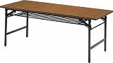 TRUSCO 折りたたみ会議テーブル 900X450XH700 チーク 945