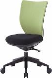 アイリスチトセ 回転椅子3DA ライムグリーン 肘なし シンクロロッキング 3DAS45M0LGN