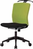 アイリスチトセ ハンガー付回転椅子(フリーロッキング) グリーン/ブラック HGXCKR46M0FLGN