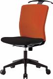 アイリスチトセ ハンガー付回転椅子(フリーロッキング) オレンジ/ブラック HGXCKR46M0FOG