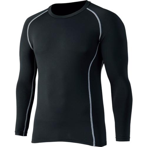 おたふく 春の新作 日本メーカー新品 BTパワーストレッチ クルーネックシャツ ブラック LL JW-174-BK-LL