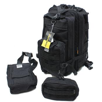 在庫販売 MIL-FORCE ミルフォース BD-18 ポリス・レスキュー バッグパックセット