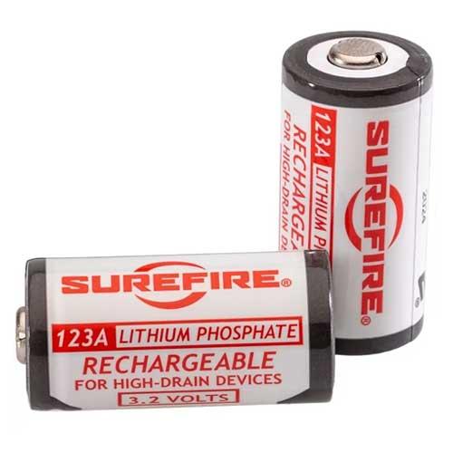 在庫販売 SUREFIRE お金を節約 シュアファイヤーSFLFP123 リチャージブル123A 日本正規品 低価格 充電式電池 バッテリー2個パック