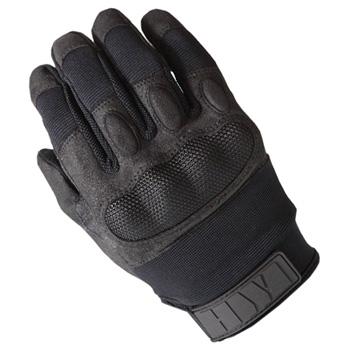 慧战术齿轮触摸屏硬 NaCl 手套用皮革 KTS100 黑色