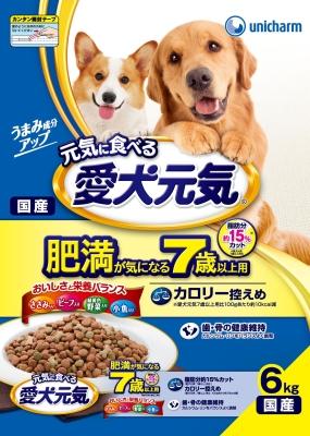 在庫限り ユニ チャーム 愛犬元気 肥満が気になる 7歳以上 小魚 ビ-フ 6.0KG ささみ 緑黄色野菜 人気海外一番 受注生産品