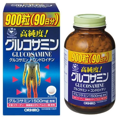 【あす楽】【送料無料】オリヒロ 高純度 グルコサミン粒 徳用 900粒X2個セット