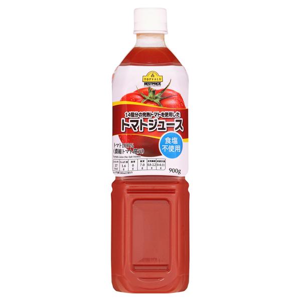 トップバリュ 14個分の完熟トマトを使用した トマトジュース 食塩不使用 900GX12個セット