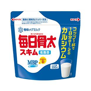 【送料無料】日本ミルク 毎日骨太MBPスキムミルク 200GX12個セット