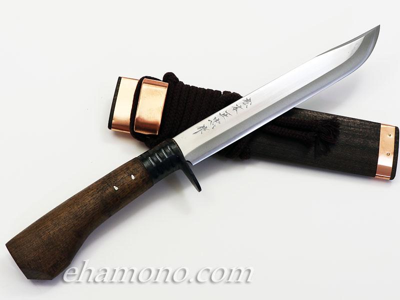 土佐鍛冶 松本正忠作 青鋼細身剣鉈 210