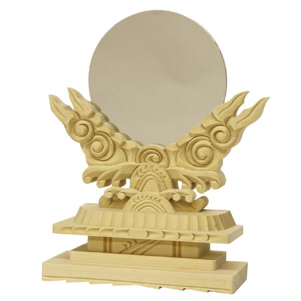 【神具】御神鏡(木製)3.0《上》【HLS_DU】