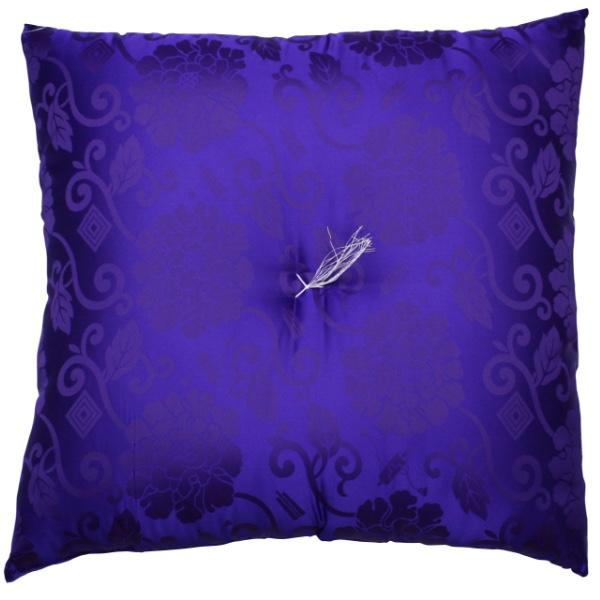 【仏前・御前座布団(高級正絹製)】正絹ドンス 紫【HLS_DU】