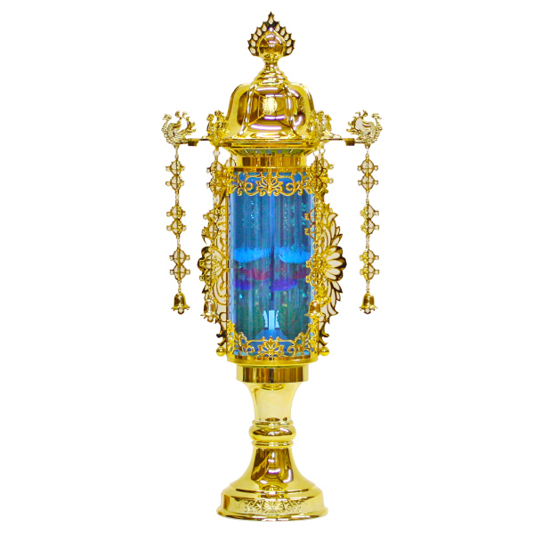 【小型灯・盆提灯/ちょうちん】11号バブル灯(ブルー) 1対【HLS_DU】