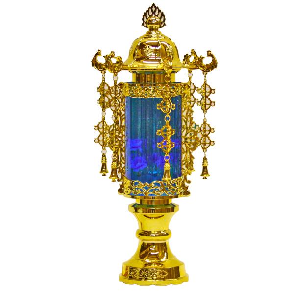 7号バブル灯(ブルー) 1対【小型灯・盆提灯/ちょうちん】【HLS_DU】