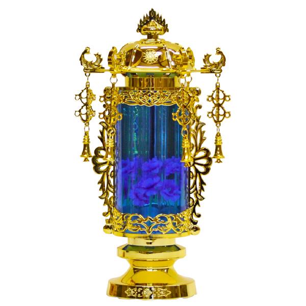 【小型灯・盆提灯/ちょうちん】5号バブル灯(ブルー) 1対【HLS_DU】