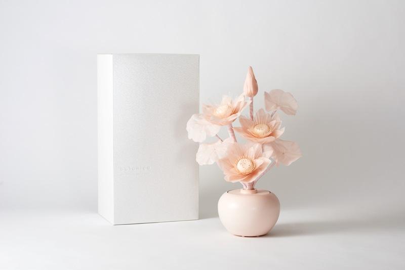 【モダン小型灯・盆提灯/ちょうちん】カメヤマbotanica 蓮 ピンク ギフト箱入り 1つ【HLS_DU】